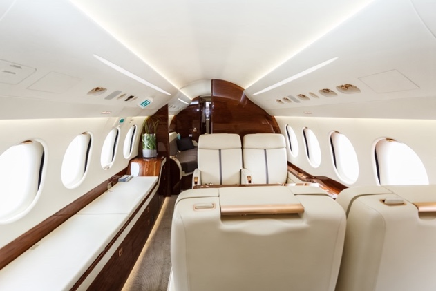 onboard private jet