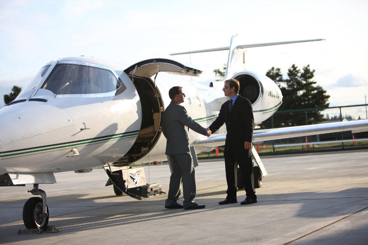 Businessmen jet