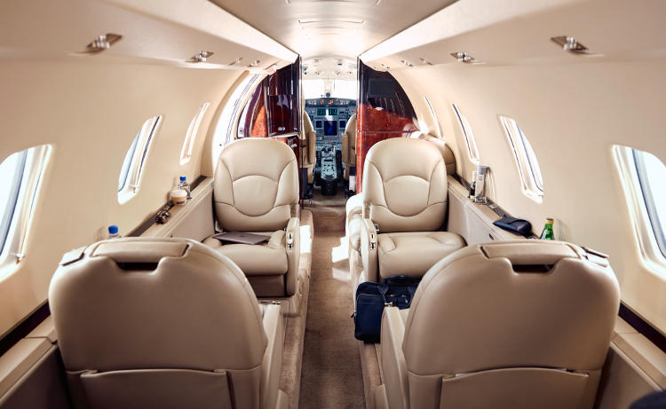 Wheels Up Citation Interior